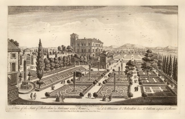Sayer: Rome. 1774. Antique copper engraving. 18 x 12 inches. [ITp2106]