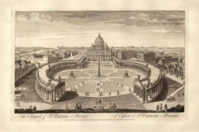 "Sayer: Vatican City, Rome. 1774. An original antique copper engraving. 18"" x 12"". [ITp2130]"