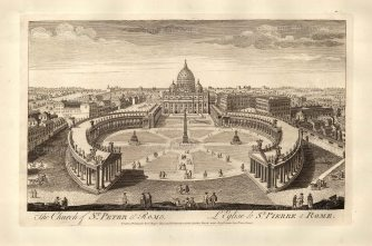 Sayer: Vatican City, Rome. 1774. Antique copper engraving. 18 x 12 inches. [ITp2130]