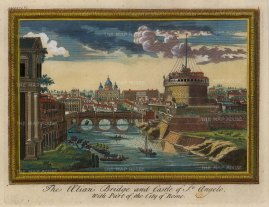 Moll: Rome, 1745. Hand-coloured original antique copper engraving. 10 x 8 inches. [ITp2141]