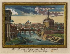 Moll: Rome, 1745. Hand-coloured original antique copper engraving. 10 x 8 inches. [ITp2141]