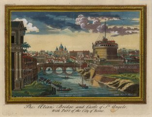 "Moll: Rome. 1745. A hand coloured original antique copper engraving. 10"" x 8"". [ITp2141]"