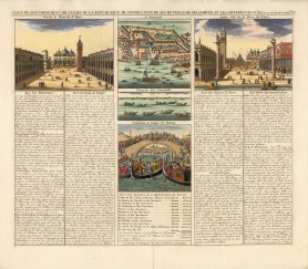 Piazzo San Marco, the Arsenal and the Lagoon with text describing various elements of the city including its history and current revenue.