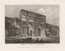 """Cottafavi: Porta Maggiore, Rome. c1843. An original antique etching. 11"""" x 8"""". [ITp2206]"""