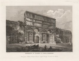 "Cottafavi: Porta Maggiore, Rome. c1843. An original antique etching. 11"" x 8"". [ITp2206]"
