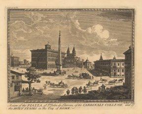 "Moll: Rome. c1745. An original antique copper engraving. 10"" x 7"". [ITp2211]"