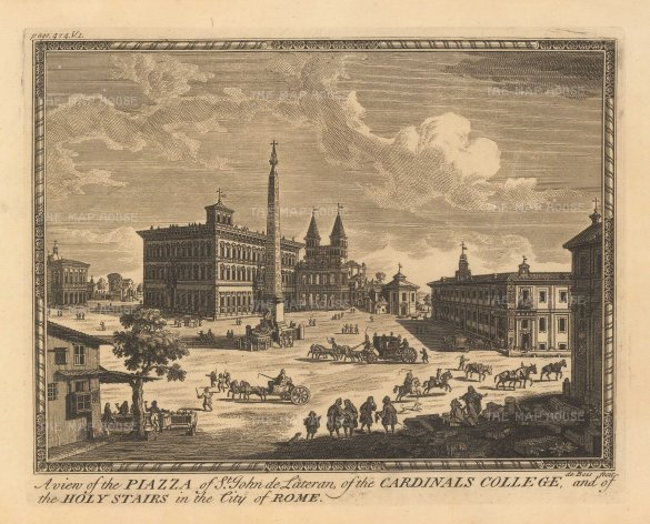 "Moll: Rome. c1745. An original antique copper engraving. 10"" x 7"". [ITp2211]"