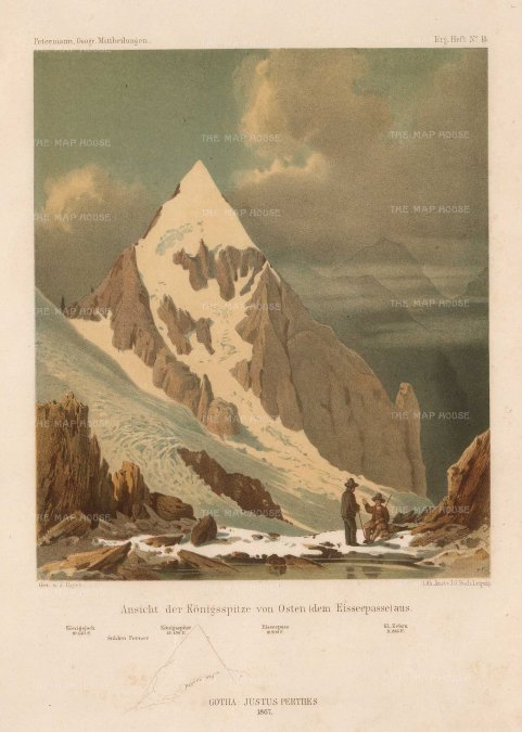 Von Payer: Alps, 1869. Original antique chromo-lithograph. 7 x 10 inches. [ITp2213]