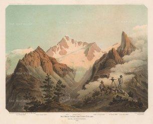 Von Payer: Alps, 1869. Original antique chromo-lithograph. 10 x 7 inches. [ITp2215]