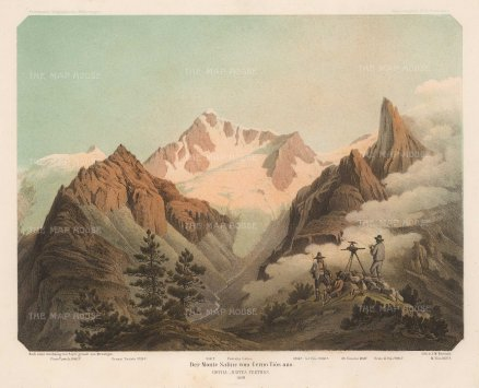 Von Payer: Alps, 1869. Original antique chromo-lithograph. 10 x 7 inches. [ITp2215]