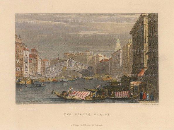 Fullarton: Venice, 1833. Hand-coloured antique original steel-engraving. 6 x 5 inches. [ITp2224]