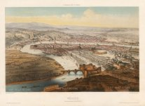 "Lemercier: Verona. 1850. A hand coloured original antique lithograph. 18"" x 13"". [ITp2226]"