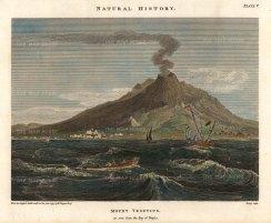 Duppa: Mount Vesuvius, Naples., 1797. Hand-coloured antique original copper engraving. [ITp2237]