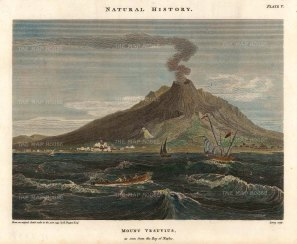 Duppa: Mount Vesuvius, Naples., 1797. Hand-coloured antique original copper engraving. [ITp2237]