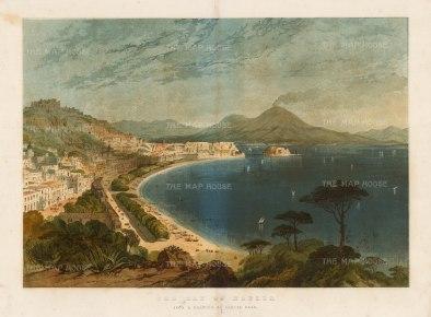 Bay of Naples:Looking towards Procida and Mount Vesuvius.