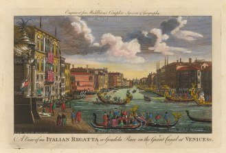 Middleton: Grand Canal, Venice, 1778. Hand-coloured antique copper engraving. 12 x 7 inches. [ITp2240]