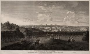 "Boydell: London from Greenwich Park. 1774. An original antique copper engraving. 28"" x 19"". [LDNp7226]"
