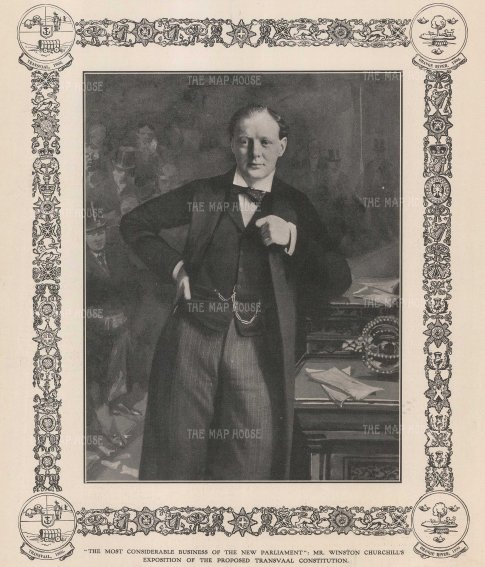 SOLD Sir Winston Churchill during his appointment as as Under-secretary of State for the Colonies during the debates of the Transvaal Constitution which restored self government.