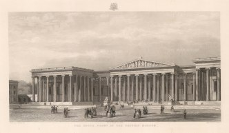 "Adlard: British Museum. c1852. An original antique steel engraving. 18"" x 11"". [LDNp10376]"