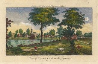 "Harrison: Clapham. 1775. A hand coloured original copper engraving. 14"" x 7"". [LDNp10392]"