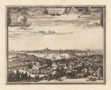 "Covens and Mortier: London. 1719. An original antique copper engraving. 12"" x 10"". [LDNp10403]"