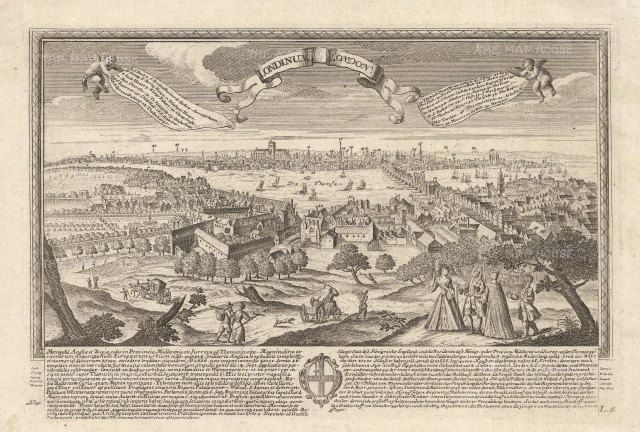 "Leopold :London before 1666. c1710. An original antique copper engraving. 12"" x 10"". [LDNp10404]"