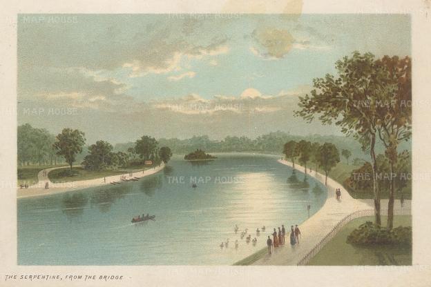 """Nelson: Hyde Park. 1890. An original antique chromolithograph. 5"""" 4"""". [LDNp10462]"""