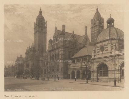 "Shepherd: London University. c1890. An original antique lithograph. 8"" x 6"". [LDNp10468]"