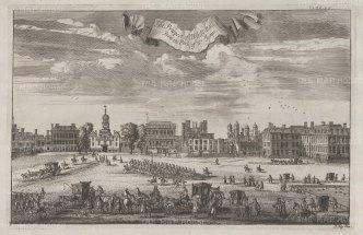 "Stow: Whitehall. 1755. An original antique copper engraving. 14"" x 9"". [LDNp10486]"