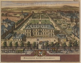 "Van der Aa: Royal Academy, Burlington House, Piccadilly. c.1770. A hand-coloured original antique copper engraving. 5"" x 6"". [LDNp8825]"