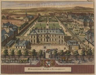 "Van der Aa: Royal Academy of Arts (Burlington House). c.1770. A hand coloured original antique copper engraving. 5"" x 6"". [LDNp8825]"