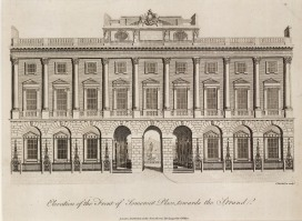 "Wilkes: Somerset House. 1798. An original antique copper engraving. 8"" x 10"". [LDNp9179]"