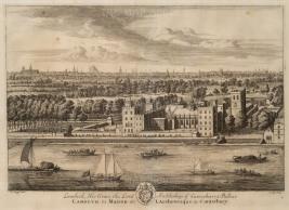 "Kip: Lambeth Palace. 1715. An original antique copper engraving. 19"" x 14"". [LDNp9568]"