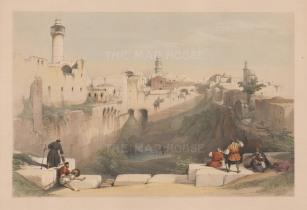 "David Roberts, 'The Pool of Bethseda', 1840. A hand-coloured original lithograph. 16"" x 22"". £POA."