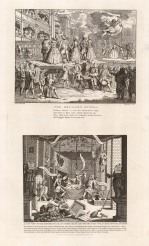 Beggar's Opera & A Just View of the British Stage. Two engravings on one sheet.