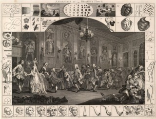 "William Hogarth, 'Analysis of Beauty', 1798. Plate II of II. Sold as a Pair. An original black and white copper-engraving. 16"" x 20"". £POA."