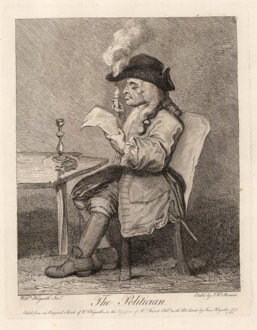 William Hogarth, 'The Politician', 1775. An original black and white copper engraving. £POA.