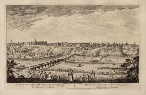 Sayer: Madrid. 1774. An original antique copper engraving. 18″ x 12″. [SPp1058]