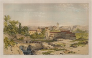 Vivian: Segovia. 1838. A hand coloured original antique lithograph. 17″ x 11″. [SPp1063]