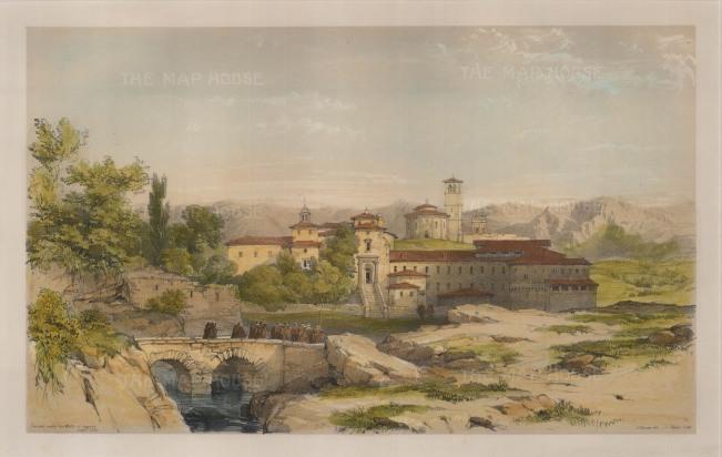 Vivian: Segovia. 1838. A hand coloured original antique lithograph. 17″ x 11″. [SPp1063]