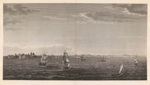Melling: Sea of Mamara. 1819. An original antique copper-engraving. 35 x 20 inches. [TKYp1255]