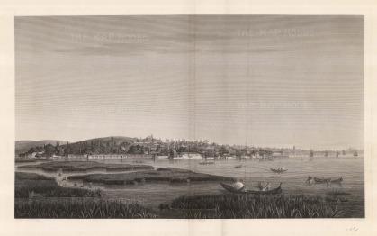 Melling: , Kara-Aghatch. 1819. An original antique copper-engraving. 29 x 19 inches. [TKYp1256]