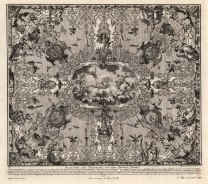 "Paulus Decker, Baroque Ceiling Decoration, 1711. An original copper-engraving. 16"" x 18"". £POA."