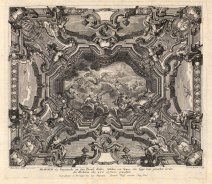 "Paulus Decker, Baroque Ceiling Decoration, 1711. An original copper engraving. 14"" x 18"". £POA."