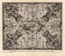 "Paulus Decker, Baroque Ceiling Decoration Depicting the Zodiac., 1711. An original copper engraving. 14"" x 18"". £POA."
