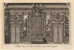 "Paulus Decker, Baroque Wall Ornamentation, 1711. An original copper engraving. 16"" x 17"". £POA."