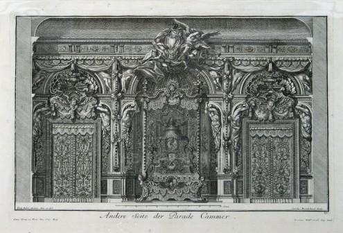 "Paulus Decker, Interior Decoration, 1711. An original copper engraving. 16"" x 18"". £POA."
