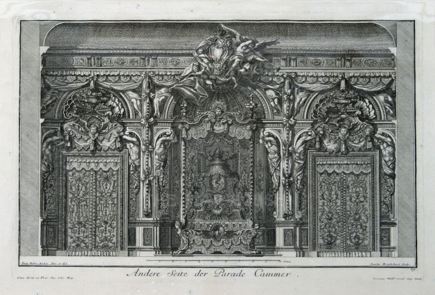 "Paulus Decker, Interior Decoration, 1711. An original copper engraving. 16"" x 18"". £POA."