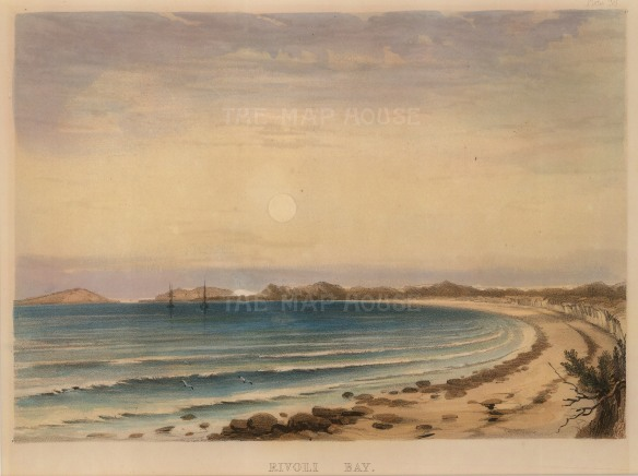 "George French Angas, 'Rivoli Bay', 1846. An original colour lithograph. 7"" x 10"". £POA."