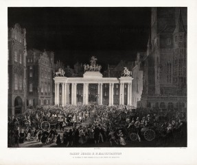 Von Edinger: Prague, Czech Republic. 1830. An original antique lithograph. 25 x 21 inches. [CEUp173]